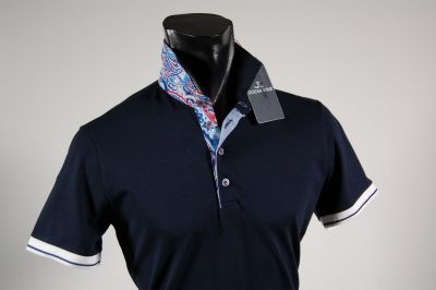 Stretch cotton Polo ocean star in three colors