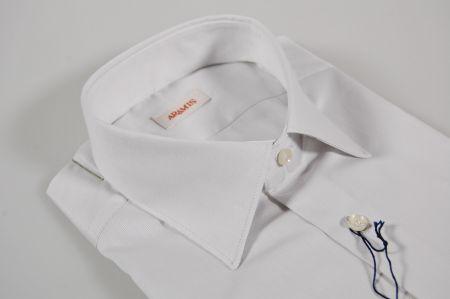 Camicia slim fit grigio perla aramis in puro cotone