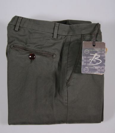 Pantalone b settecento super slim in gabardina tinto zolfo 4 colori