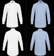 No iron cotton twill shirt ingram smooth regular fit