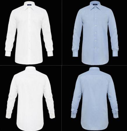 Camicia ingram no stiro cotone twill liscio vestibilità regolare