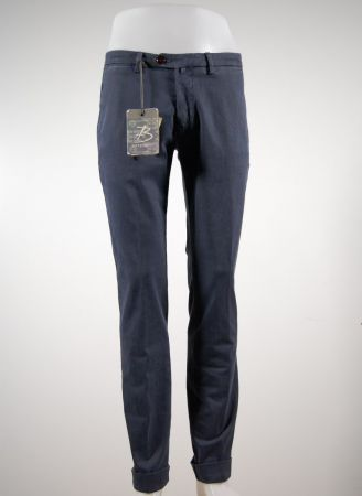 Stretch gabardine pants washed micro bsettecento design