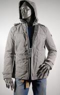 Giubbino giacca talenti con cappuccio e toppe slim fit