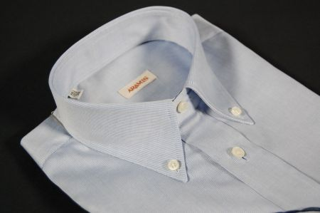 Camicia celeste aramis collo button down con taschino