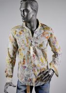 Camicia ingram slim fit fantasia hawaiana