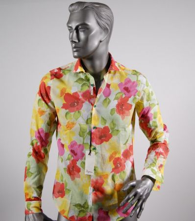 Camicia ingram slim fit fantasia floreale