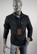 Classic bomber man in eco-leather milestone two colors